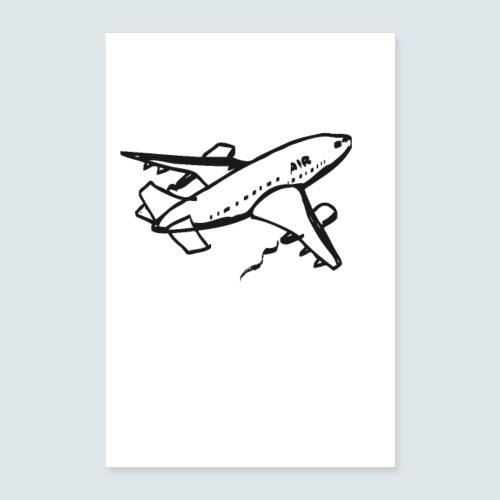 flugzeug - Poster 40x60 cm