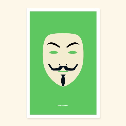 Anonymous mask - Poster 16 x 24 (40x60 cm)