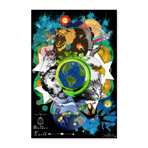 Poster- Mother Earth (us) -by T-shirt chic et choc - Poster 40 x 60 cm