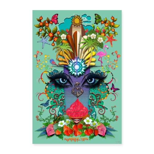 Poster - Summer Time - couleur vert jade - Poster 40 x 60 cm