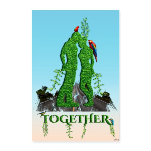 Poster - Together love nature - Poster 40 x 60 cm