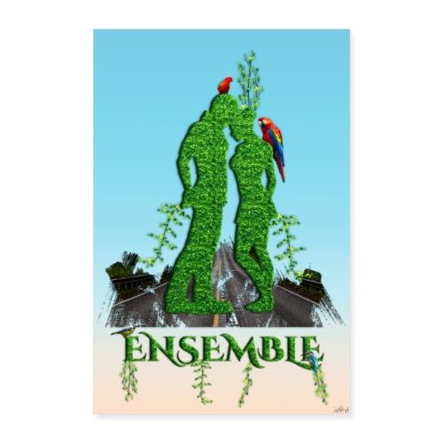Affiche - Ensemble amour nature - Poster 40 x 60 cm