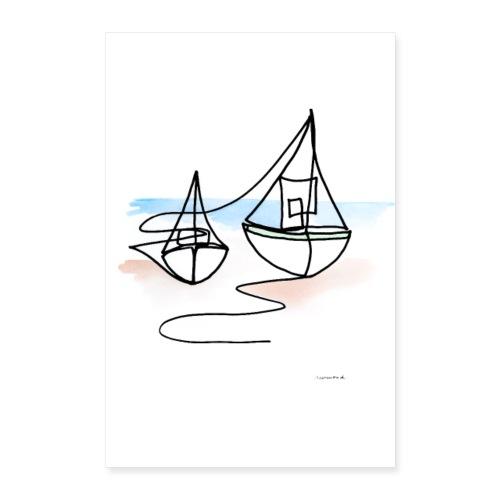Fiskerbåde Nej 1 - Poster 40x60 cm