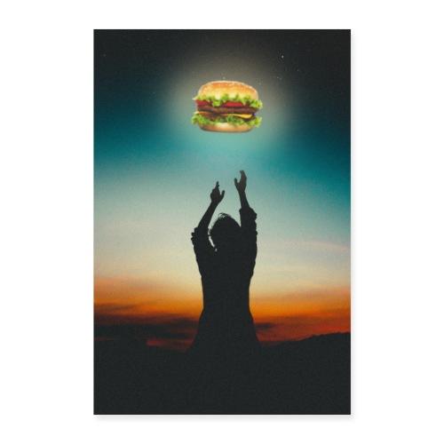 Hamburger in The Sky - Poster 40x60 cm