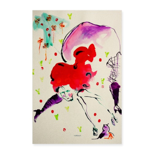 femme cheveux red by Ollivier Fouchard - Poster 40 x 60 cm
