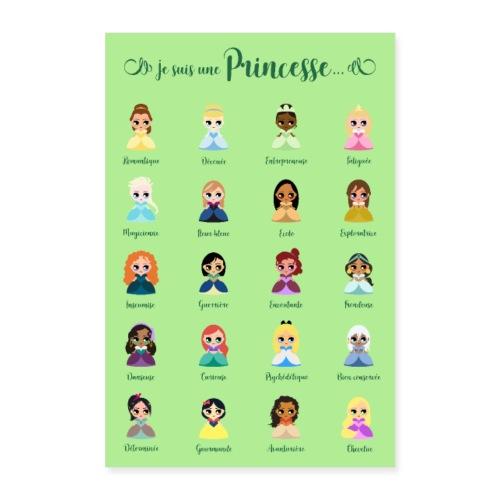 Je suis une princesse - Poster 40 x 60 cm