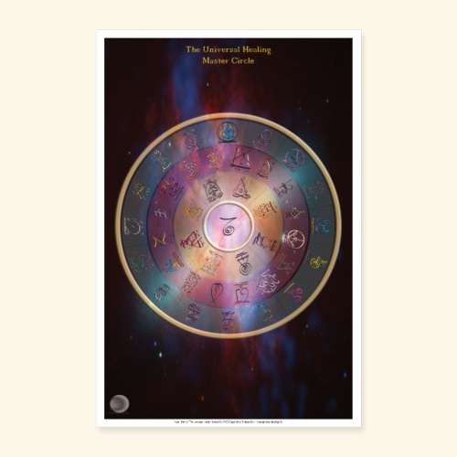 The Universal Healing Master Circle - Poster 40x60 cm