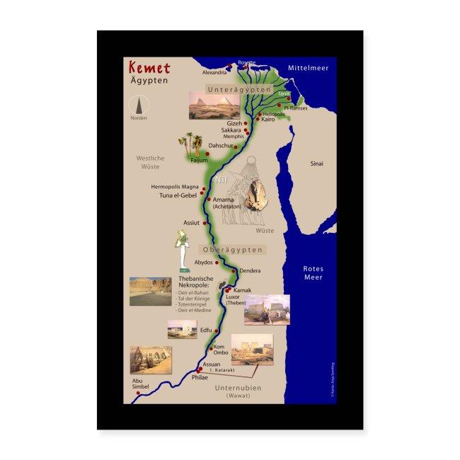 POSTER: Landkarte KEMET (Altes Ägypten)