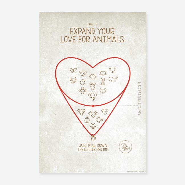 "Poster ""Expand your love for animals"" (hell)"
