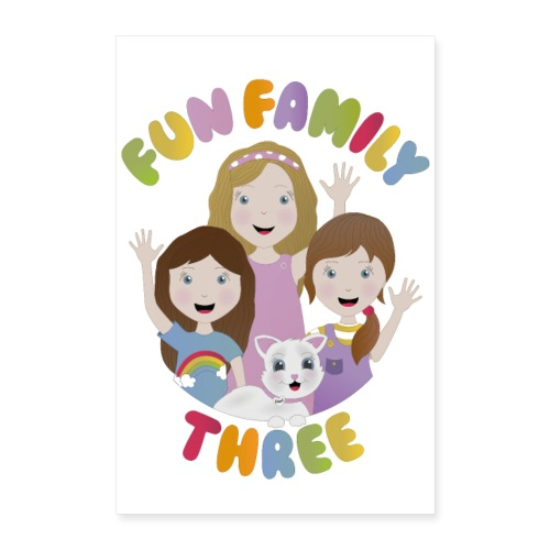 Fun Family Three Logo Poster - Poster 16 x 24 (40x60 cm)