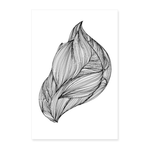flow, abstract doodle - Poster 40x60 cm