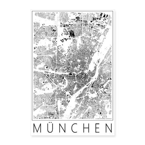 Schwarzplan München Poster Figureground Diagram - Poster 40x60 cm