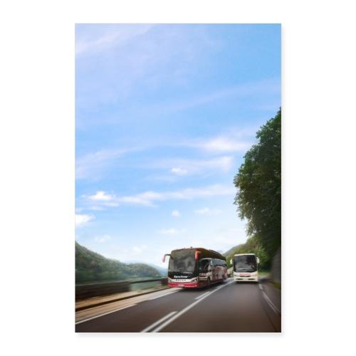 Reisebus Poster 2 - Poster 40x60 cm