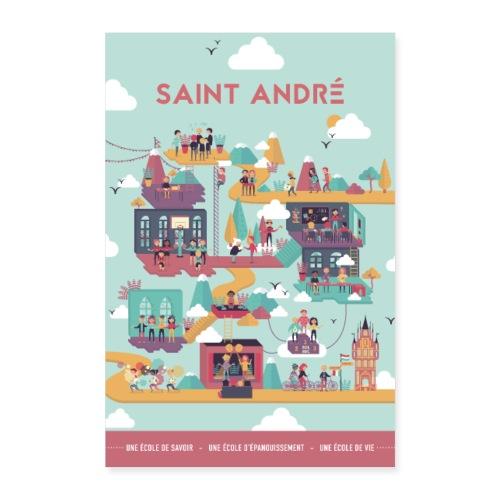 Poster Vie À Saint André 104 - Poster 40 x 60 cm