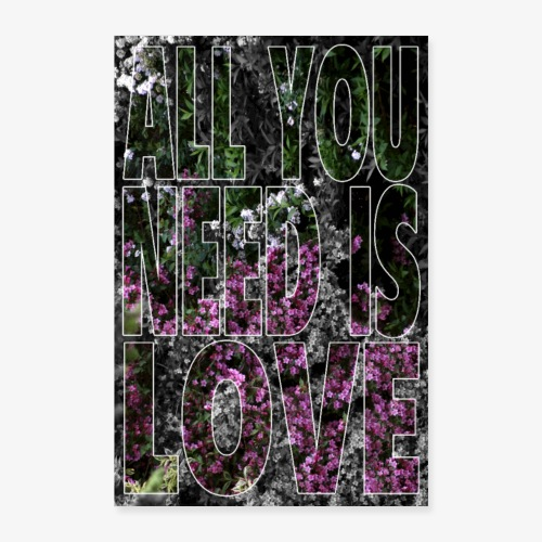 All You need is love - Plakat o wymiarach 40x60 cm
