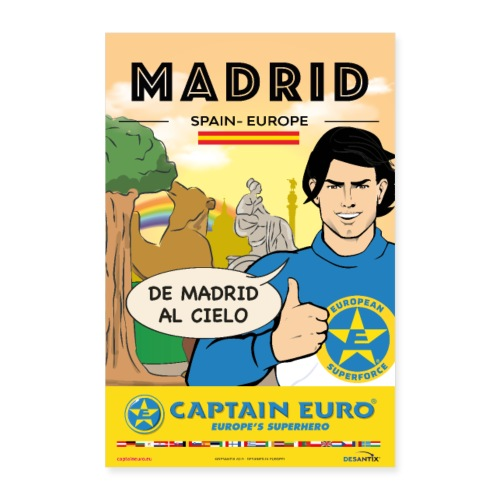 Captain Euro _ Poster MADRID - Póster 40x60 cm