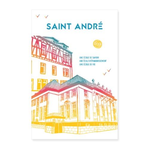 Poster Vie À Saint André 105 - Poster 40 x 60 cm