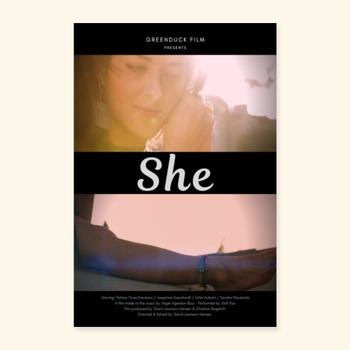 She Poster - Poster 40x60 cm