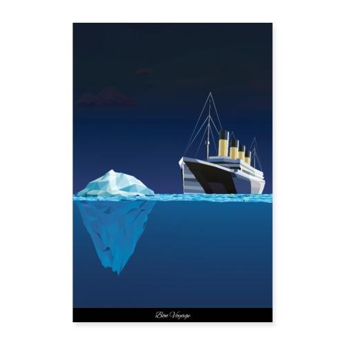 Titanic Kreuzfahrt lustig aida Urlaub Poster Reise - Poster 40x60 cm