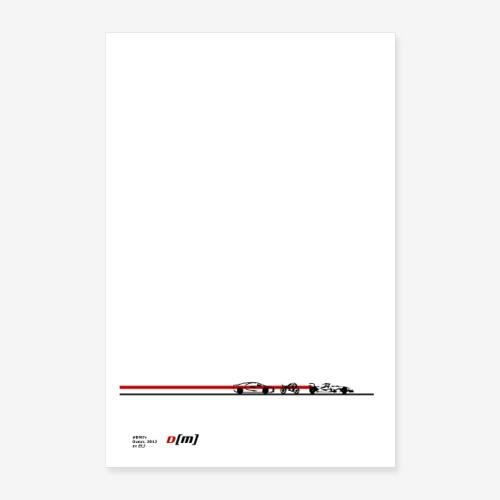 Poster 2019 artwork auto moto sport DM 7y by ELJ - Poster 40 x 60 cm