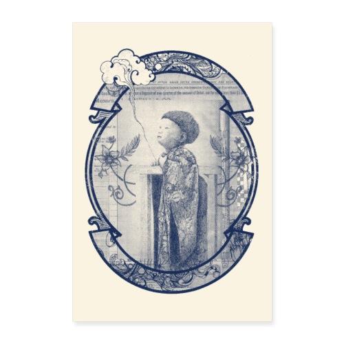 Poster enfant nuage - Poster 40 x 60 cm