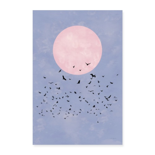 FLY TO THE MOON - Poster 40x60 cm