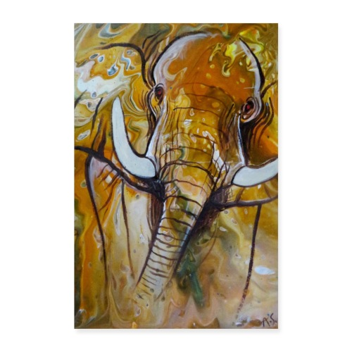 ELEFANT I Savanne - Poster 40x60 cm