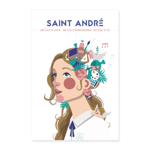 Poster Vie À Saint André 106 - Poster 40 x 60 cm