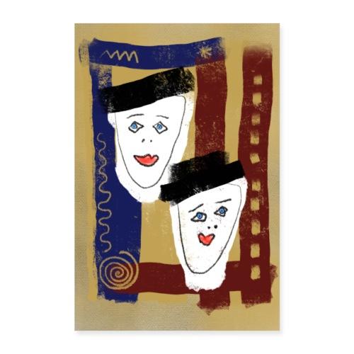 Zwillinge Poster - Poster 40x60 cm