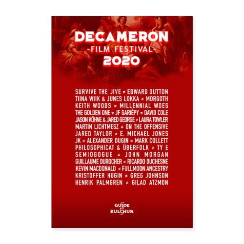 DECAMERON Film Festival 2020 - Poster 16 x 24 (40x60 cm)