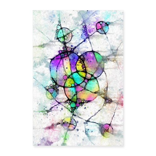 Lebensabschnitte - Neuro Art Poster 1 - Poster 40x60 cm