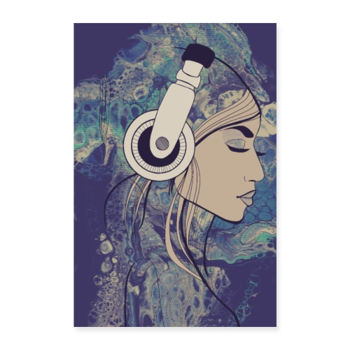 listen to the music - Poster 40x60 cm