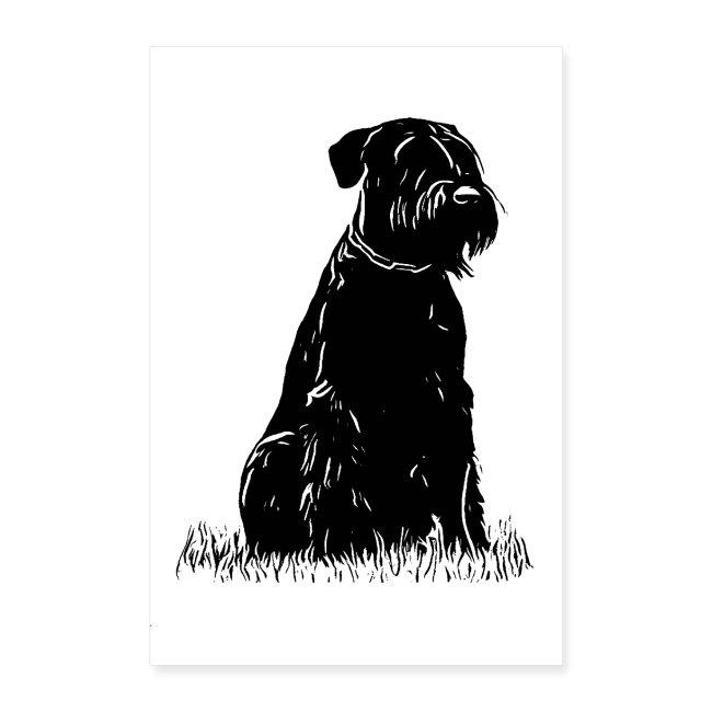 POSTER Riesenschnauzer/ Schnauzer Design Hunde
