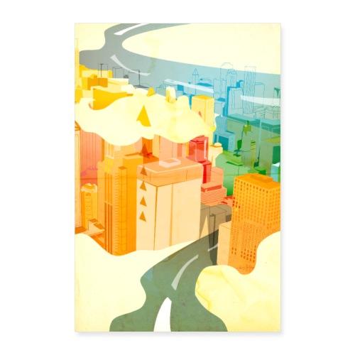 Wolkenstadt - Poster 40x60 cm