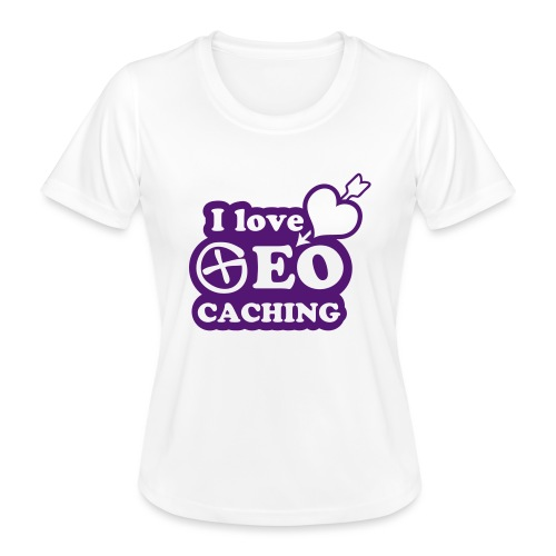 I love Geocaching - 1color - 2011 - Frauen Funktions-T-Shirt