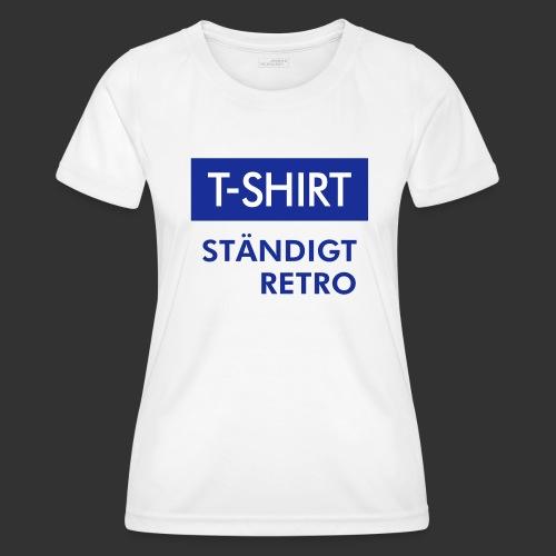 BLÅVITT T-SHIRT - Funktions-T-shirt dam