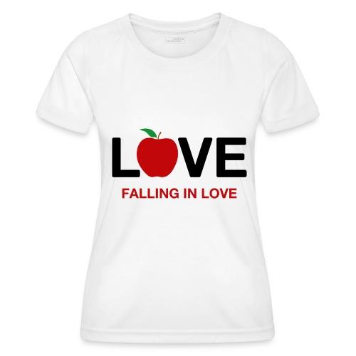 Falling in Love - Black - Women's Functional T-Shirt