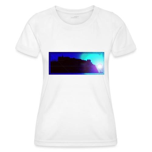 Silhouette of Edinburgh Castle - Women's Functional T-Shirt