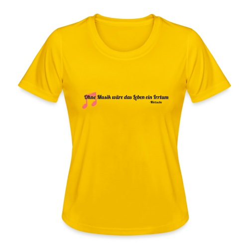 Without Music Life would be a mistake - Maglietta sportiva per donna