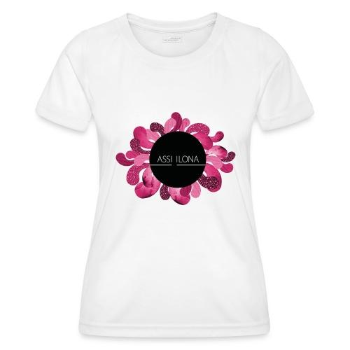 Naisten t-paita punaisella logolla - Naisten tekninen t-paita