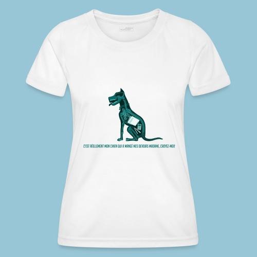 T-shirt femme imprimé Chien au Rayon-X - T-shirt sport Femme