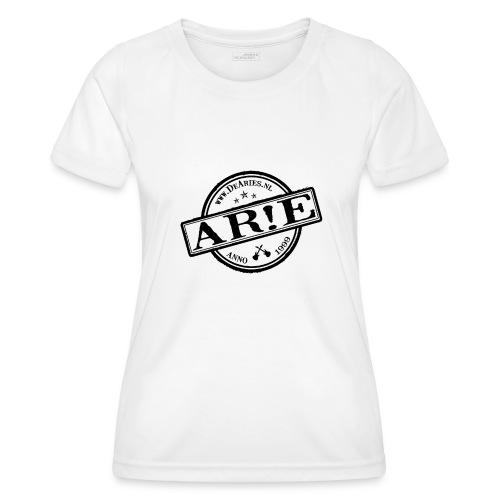 Backdrop AR E stempel zwart gif - Functioneel T-shirt voor vrouwen