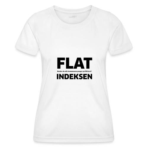 Jeg legger meg flat - Funksjons-T-skjorte for kvinner