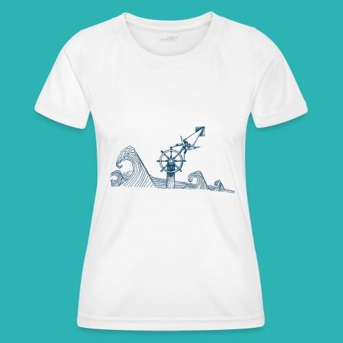 Carta_timone_blu-png - Maglietta sportiva per donna