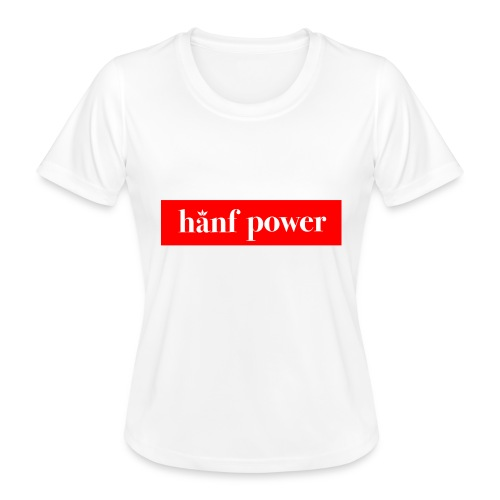 Hanf Power RED - Frauen Funktions-T-Shirt