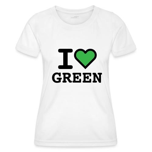 i-love-green-2.png - Maglietta sportiva per donna