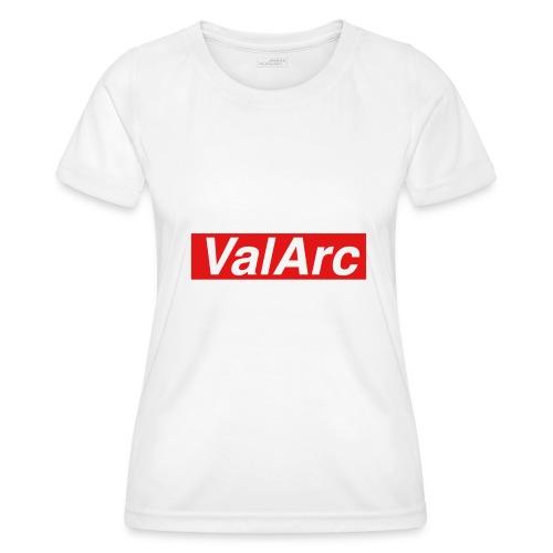 ValArc Text Merch Red Background - T-shirt sport Femme