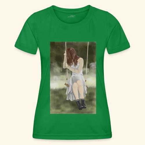 Sad Girl on Swing - Women's Functional T-Shirt