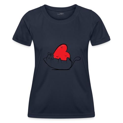 Cat Love - Functioneel T-shirt voor vrouwen