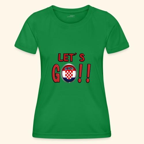 Go Croatia - Maglietta sportiva per donna